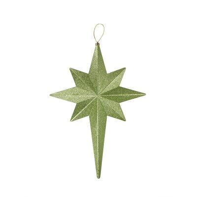 Glittered Bethlehem Star Shatterproof Christmas Ornament Color: Green Kiwi