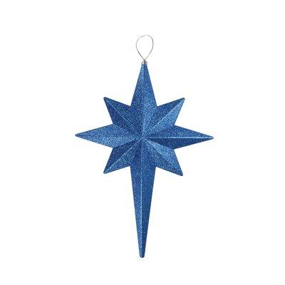 Glittered Bethlehem Star Shatterproof Christmas Ornament Color: Lavish Blue