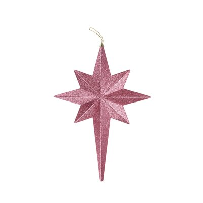 Glittered Bethlehem Star Shatterproof Christmas Ornament Color: Bubblegum Pink