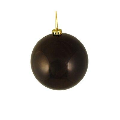 Shiny Shatterproof Christmas Ball Ornament Color: Chocolate Brown