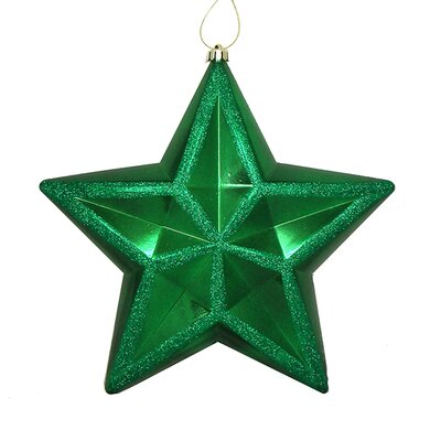 Shiny Glitter Commercial Size Shatterproof Star Christmas Ornament Color: Xmas Green