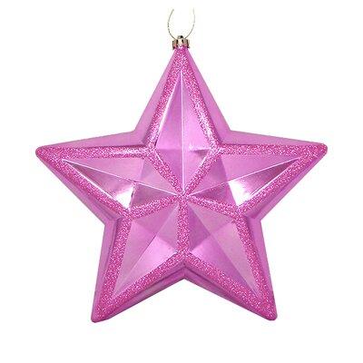 Shiny Glitter Commercial Size Shatterproof Star Christmas Ornament Color: Bubblegum Pink