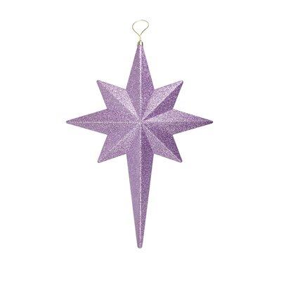Glittered Bethlehem Star Shatterproof Christmas Ornament Color: Lavender