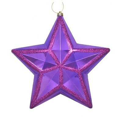 Shiny Glitter Commercial Size Shatterproof Star Christmas Ornament Color: Purple