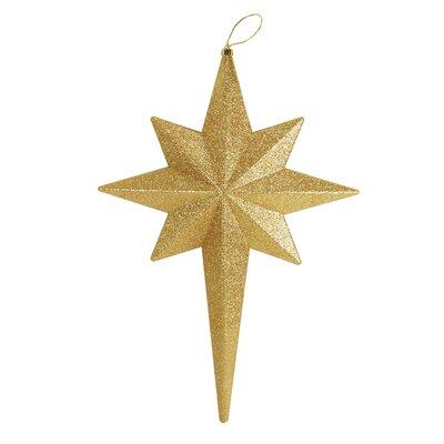Glittered Bethlehem Star Shatterproof Christmas Ornament Color: Vegas Gold