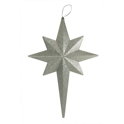 Glittered Bethlehem Star Shatterproof Christmas Ornament Color: Silver Splendor