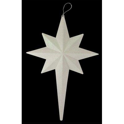 Glittered Bethlehem Star Shatterproof Christmas Ornament Color: Winter White