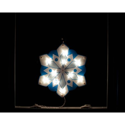 Lighted Holographic Snowflake Christmas Window Silhouette Decoration