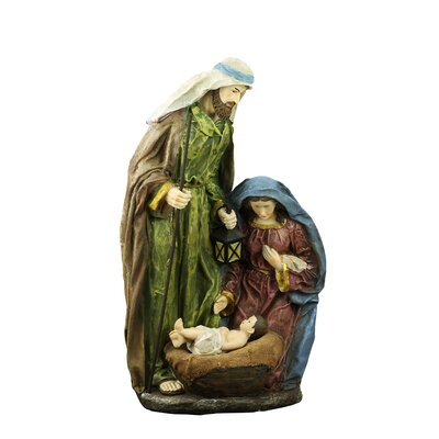 Lighted Religious Holy Family Nativity Statue with Lantern 2153550