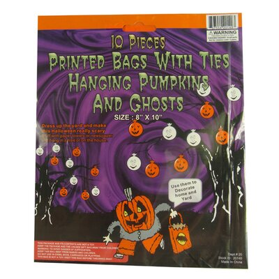Pumpkin and Ghost Hanging Halloween Bag Decoration 20140