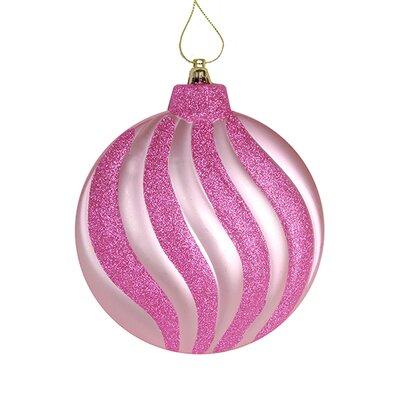 Swirl Shatterproof Christmas Disc Ornament Color: Bubblegum Pink