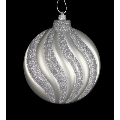 Swirl Shatterproof Christmas Disc Ornament Color: Silver Splendor