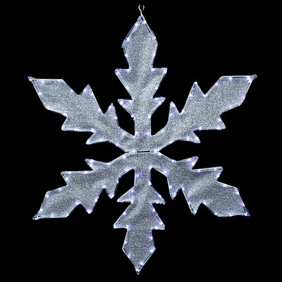 Lighted Indoor/Outdoor Tube Light Snowflake Commercial Christmas Decoration