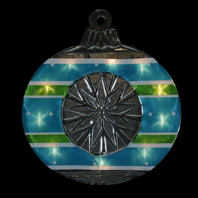 Lighted Shimmering and Silver Ornament Christmas Window Silhouette Decoration Color: Blue/Green/White/Purple