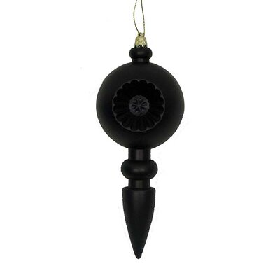 Retro Reflector Shatterproof Christmas Finial Ornament Color: Jet Black