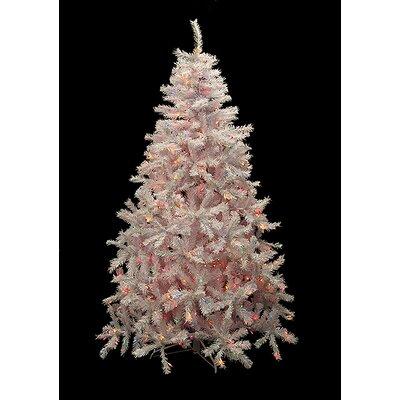 6.5' White Cedar Pine Artificial Christmas Tree with Multi Light