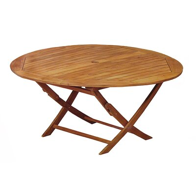 Acacia Wood Outdoor Patio Furniture Round Folding Table