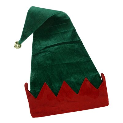Northlight Velvet Jester Elf Hat with Jingle Bell 600041GO