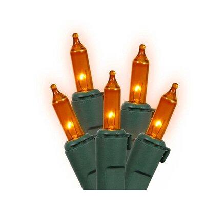 Commercial Grade Mini Christmas Light (Pack of 50) Color: Orange