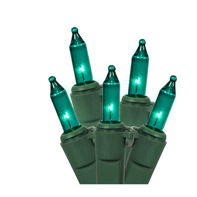 Commercial Grade Mini Christmas Light (Pack of 50) Color: Teal Blue/Green