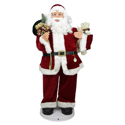 Deluxe Animated and Musical Decorative Dancing Santa Claus Christmas Figure