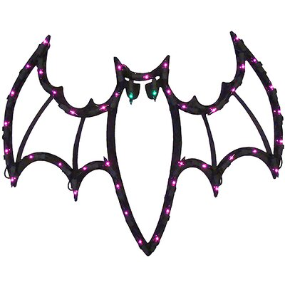 Lighted Halloween Spooky Bat Window Silhouette Decoration IMPACT 85505