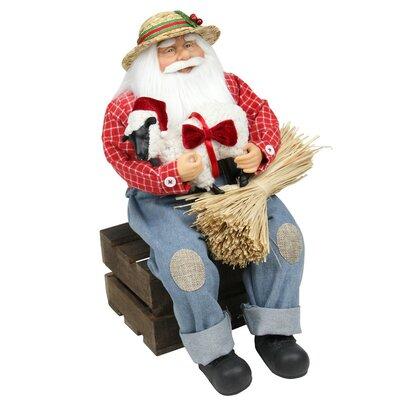 Country Heritage Santa Claus Holding Hampshire Sheep Christmas Decoration