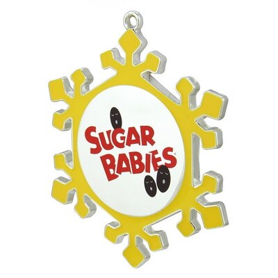 Snowflake Sugar Babies Candy Logo Christmas Ornament with European Crystal