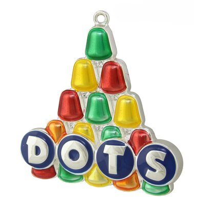Dot Candy Logo Multi- Colored Christmas Tree Ornament with European Crystal