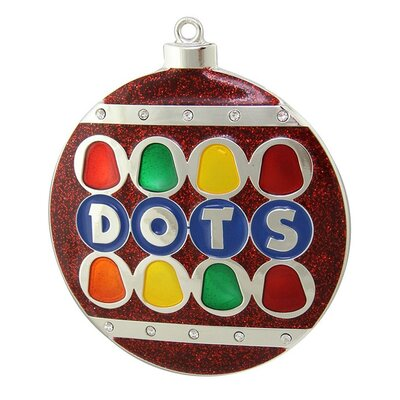 Dots Candy Logo Christmas Ornament with European Crystal