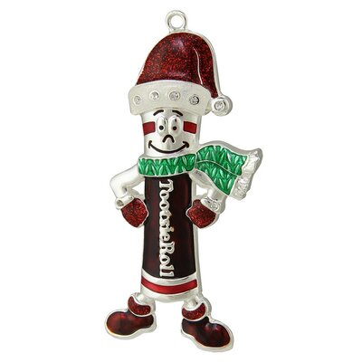 Holiday Tootsie Roll Man Candy Logo Christmas Ornament with European Crystal