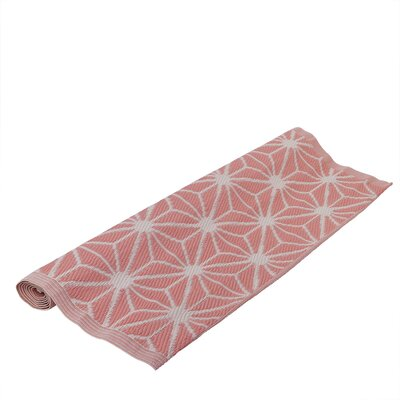 Basic Luxury Light Pink/White Outdoor Area Rug
