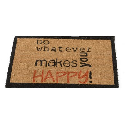 Basic Luxury Do whatever makes you happy! Coir Doormat