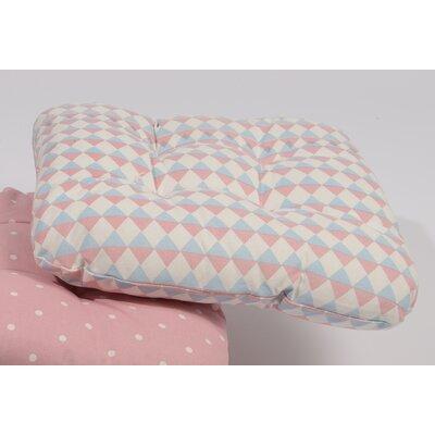 Capri Boulevard Chair Cushion Fabric: Pink/Blue