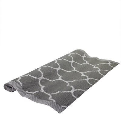 Basic Luxury Jet Black/White Outdoor Area Rug