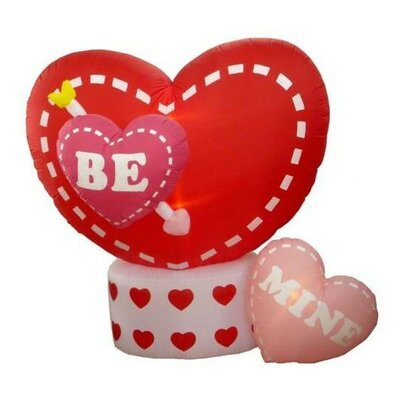 Inflatable Animated Be Mine Hearts Lighted Valentine's Day Yard Art Decoration
