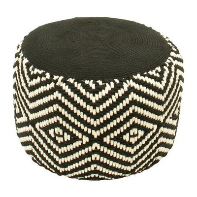 Basic Luxury Woven Diamond Footrest Ottoman