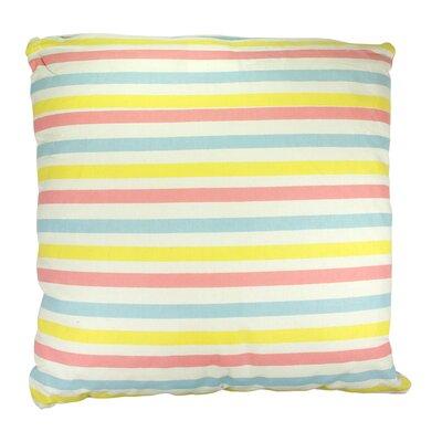 Capri Boulevard Cotton Throw Pillow Color: Pink/Yellow