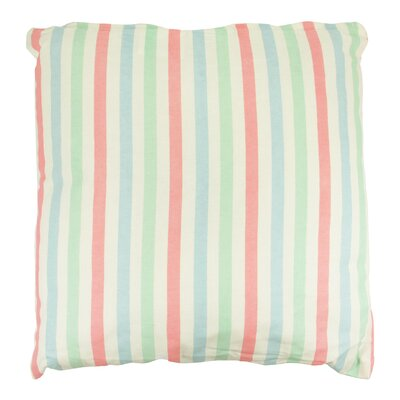 Capri Boulevard Cotton Throw Pillow Color: Pink/Green