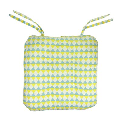 Capri Boulevard Chair Cushion Fabric: Blue/Yellow