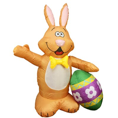 Inflatable Easter Bunny Egg Decoration