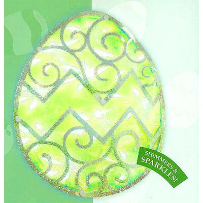Lighted Easter Egg Window Silhouette Decoration Color: Green