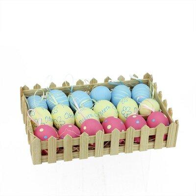 18 Piece Spring Easter Egg Ornament Set NORTHLIGHT EG37216