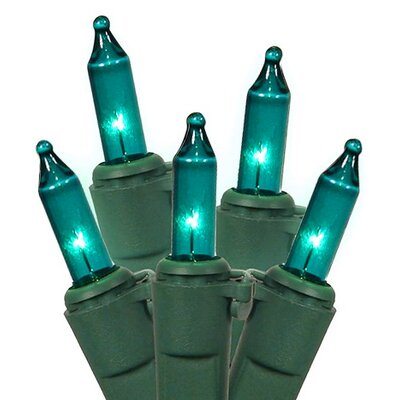 Commercial Grade Mini Christmas Light (Pack of 50) Color: Teal