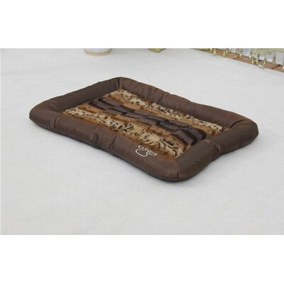 Luxurious Leopard Faux Fur Waterproof Oxford Sleeper Dog Mat Size: Medium (26 L x 18 W)