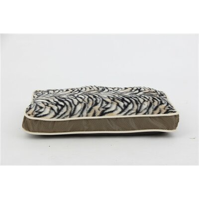 Luxurious Zebra Faux Fur Plush Waterproof Oxford Sleeper Pet Pillow Size: Small (23 L x 16 W)