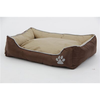 Waterproof Plush Oxford Pet Sleeper Lounge Bolster Size: Large (35.5 L x 24.5 W), Color: Olive Tan/Gray/Brown