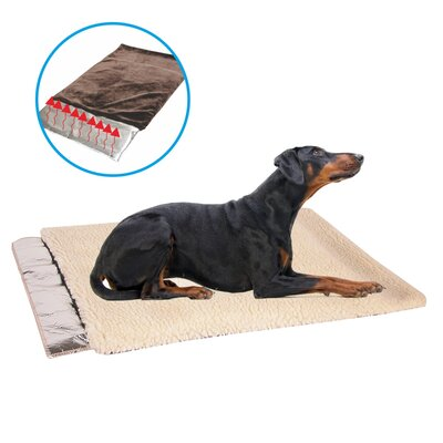 Self Warming French Vanilla Waterproof Soft Faux Wool Sleeper Cushion Dog Mat
