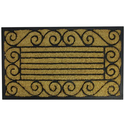 Scroll and Stripe Doormat