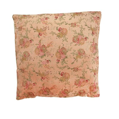 Vintage Patterned Veleveteen Floral Cotton Throw Pillow